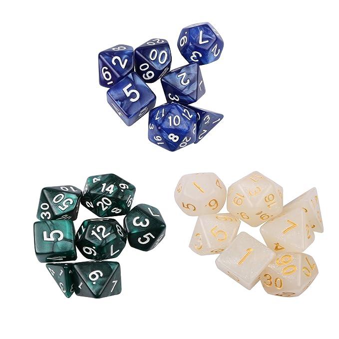 Amazon.com: NUBAT Polyhedral Dice with 3 Complete Dice Set ...