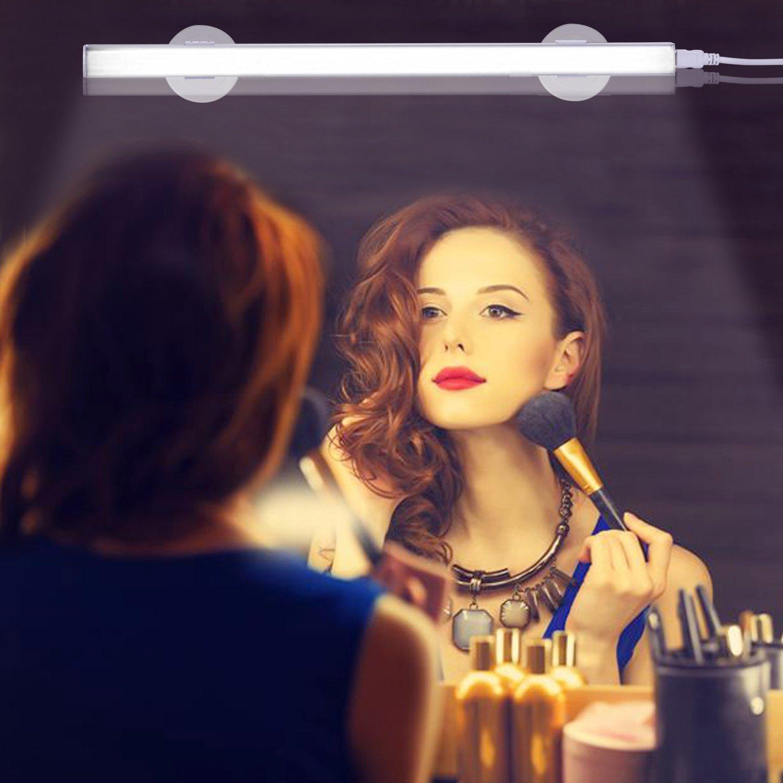 LKARM Vanity Lights, LED Bathroom Vanity Light Mirror Makeup Light, 10 Brightness Level Wired Controlled Adjustable, USB Powered Cosmetic Lamp