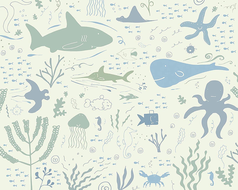 OhPopsi WALS0362 Underwater Adventures Wall Mural Green