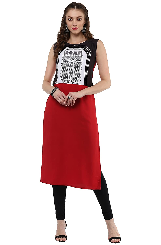 8c6d918f9de Janasya Women s Polyester Crepe Kurta  Amazon.in  Clothing   Accessories