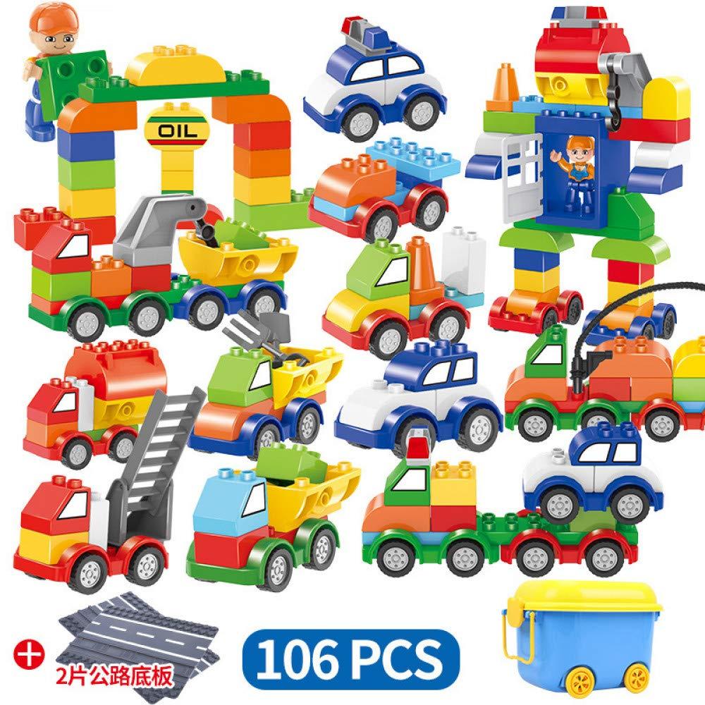 QAQW Los Gránulos De Plástico De Los Niños Ensamblan Bloques De Construcción De Bloques De Construcción De Partículas De Automóviles con Juguetes De Entrenamiento De Interés En El Piso
