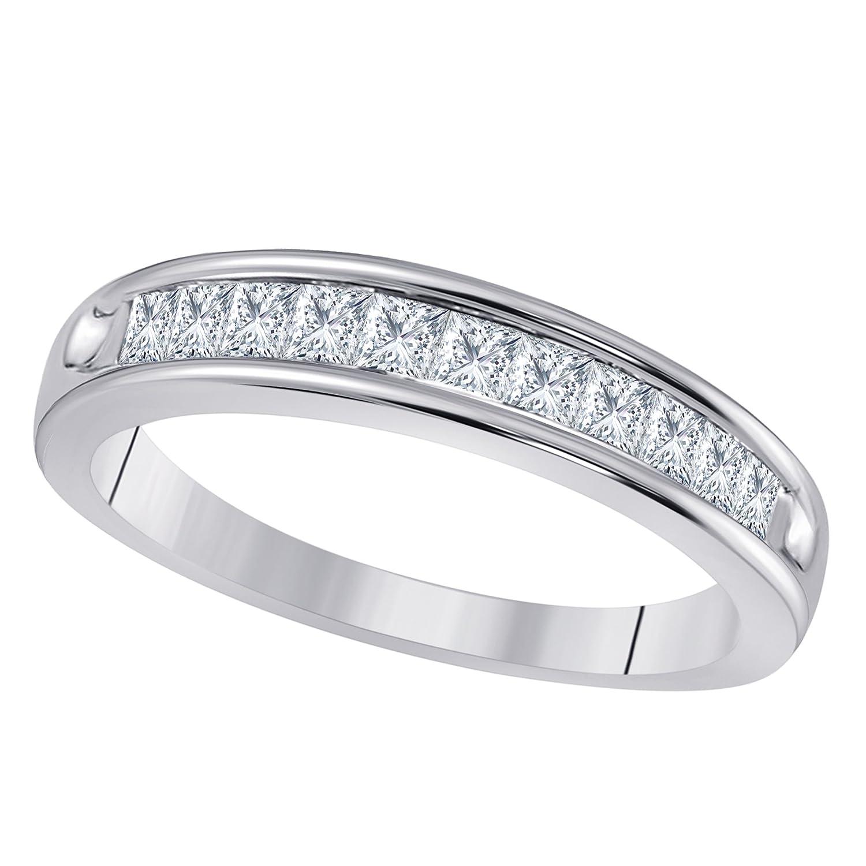 Amazon Com Sterling Silver Plated 1 2 Ct Princess Cut Cz