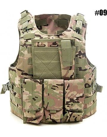 Chaleco Táctico de Caza Chaleco de Combate de Ajustable del Ejército, Chaleco Protector de la
