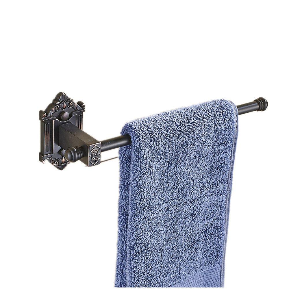 AUSWIND Antique Bronze Carved Black Towel Rings Carved Towel Rack 30cm Bathroom Accessories MH1 B01MTAQ2EA