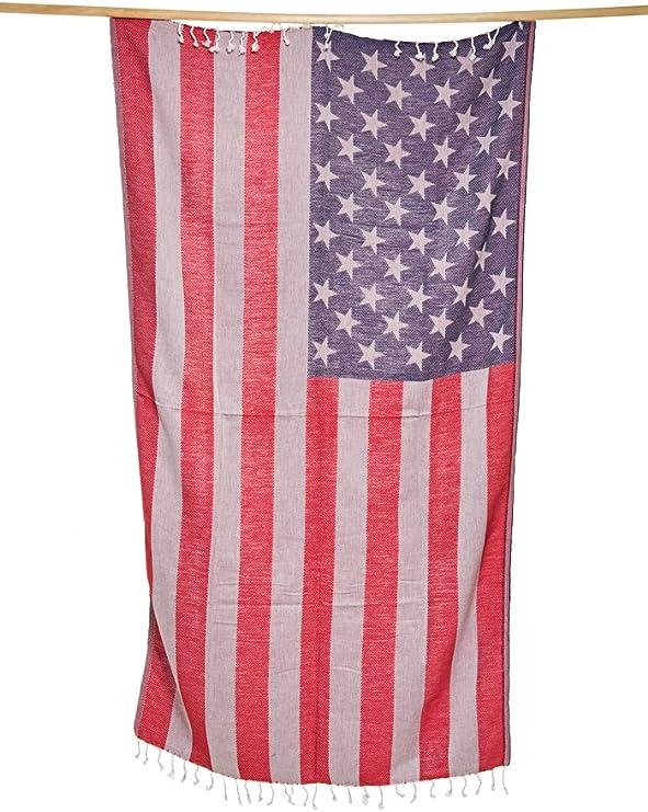 Bandera de Estados Unidos – New England Patriots toalla – Toalla de turco Por toallas de Atlantis – Peshtemal – Toalla de playa – Toalla de baño – 40 x 69
