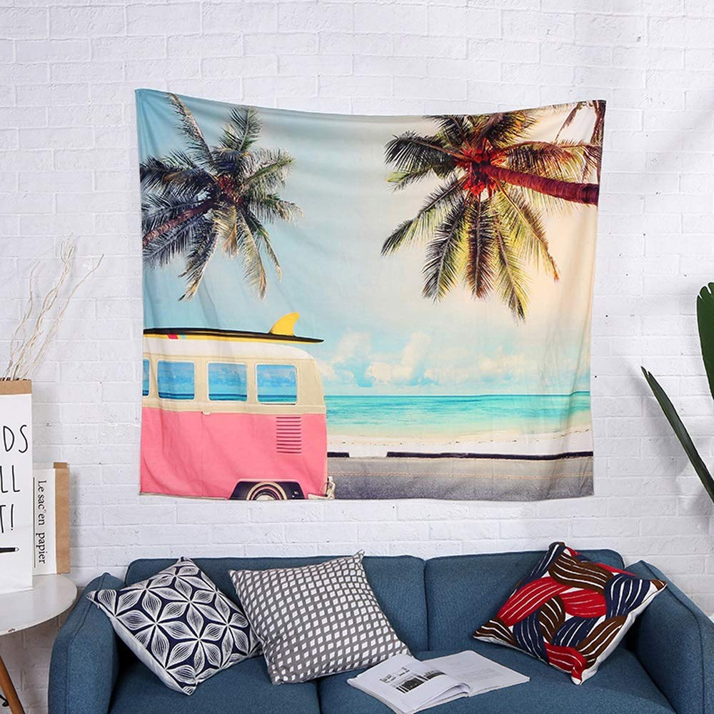 ETH Bedroom Dormitory Renovation Tapestry Fabric Home Textile Room Layout Cloth Home Background Wall Covering Durable (Size : 150130cm)