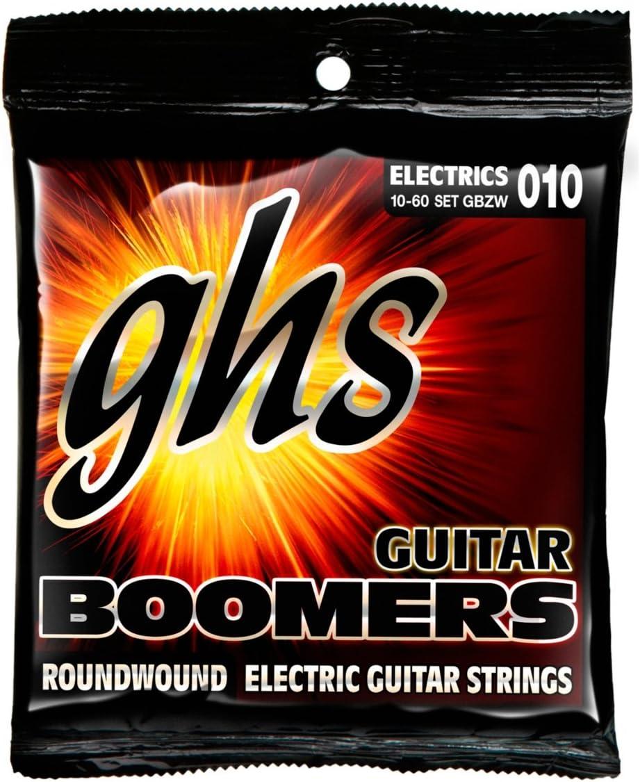 .010-.060 Nickel-Plated Electric Guitar Strings GHS Strings GBZW Boomers Heavyweight