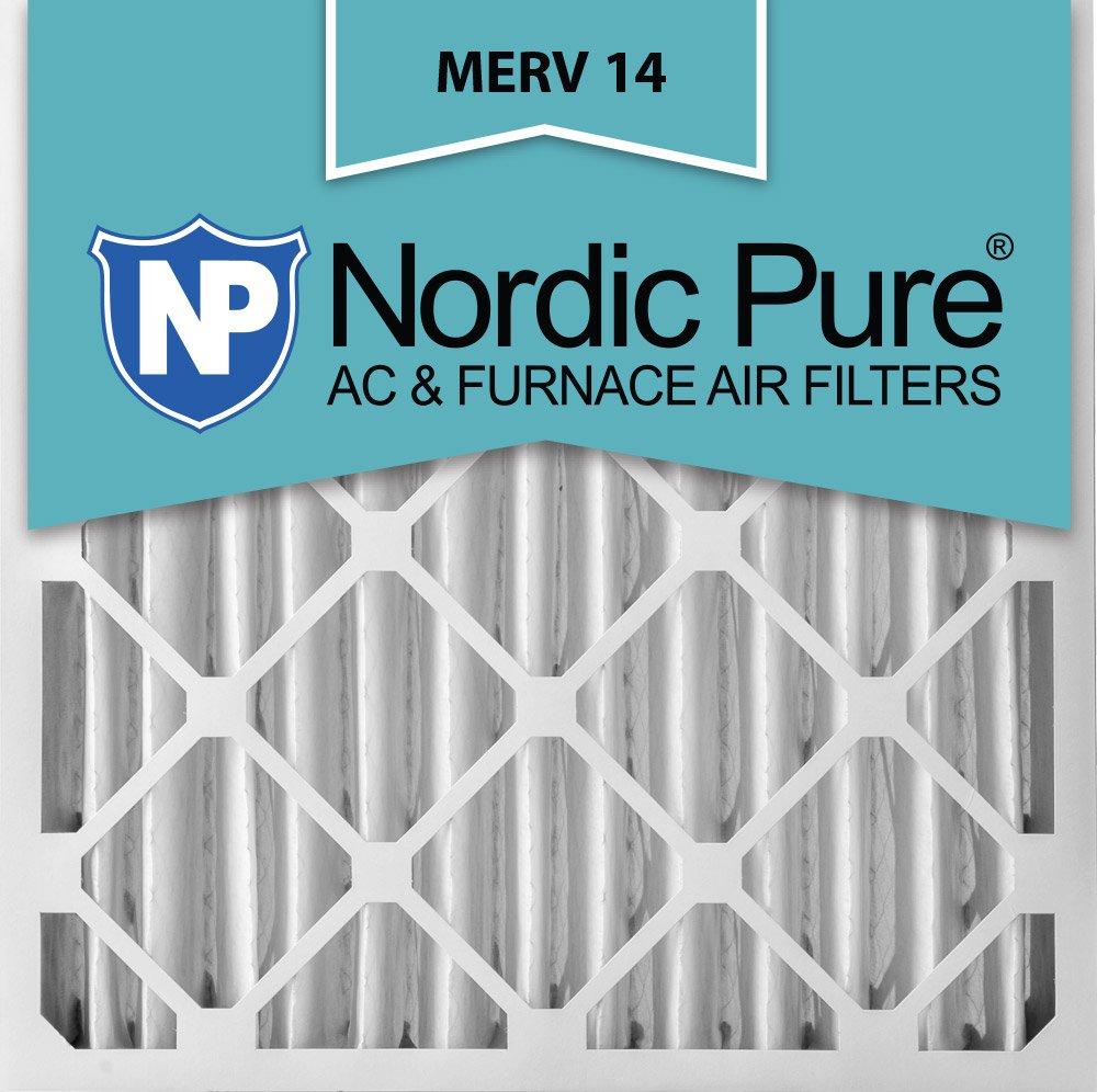 Nordic Pure 20 x 24 x 4 m14 – 1プリーツAC炉エアフィルタ、ボックスの1 B007L5ZNRM