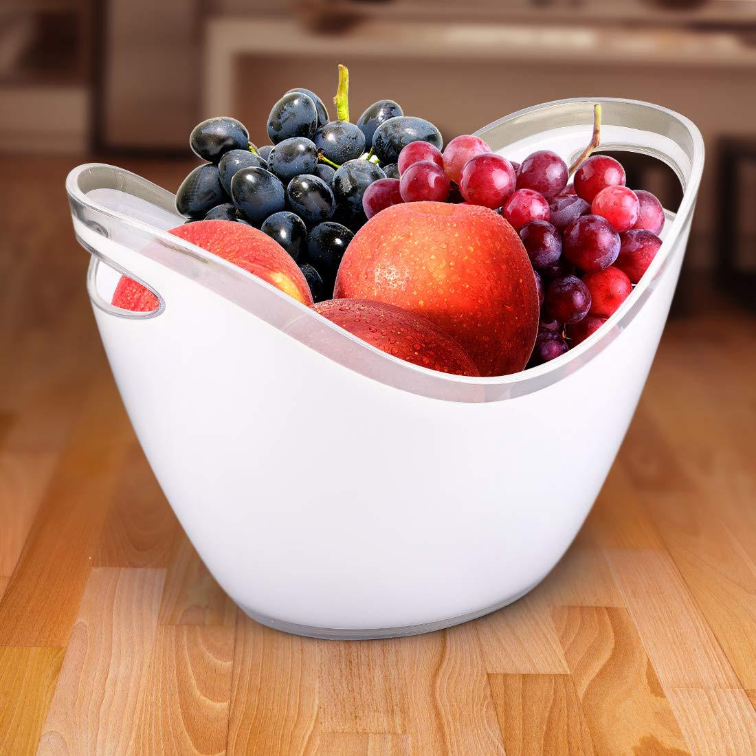 Clear Yobansa 3.5L Seau /à Glace,Seau /à Champagne,Sceaux /à Glace,Seau /à Glace en Plastique,Conteneur de Fruits et l/égumes