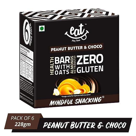 EAT Anytime Chocolate Peanut Butter & Choco Bars - 228g (38g X 6 Bars)
