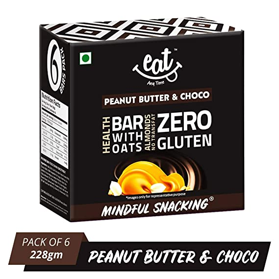 040160ee8b2d56 EAT Anytime Chocolate Peanut Butter   Choco Bars - 228g (38g X 6 ...
