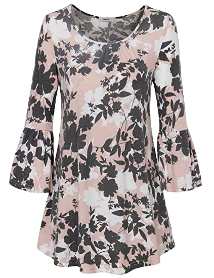 1f4f4b76 Youtalia Blouses for Women Fashion 2018, Juniors Vintage Ruffle Sleeve  Floral Printed A Line Ladies