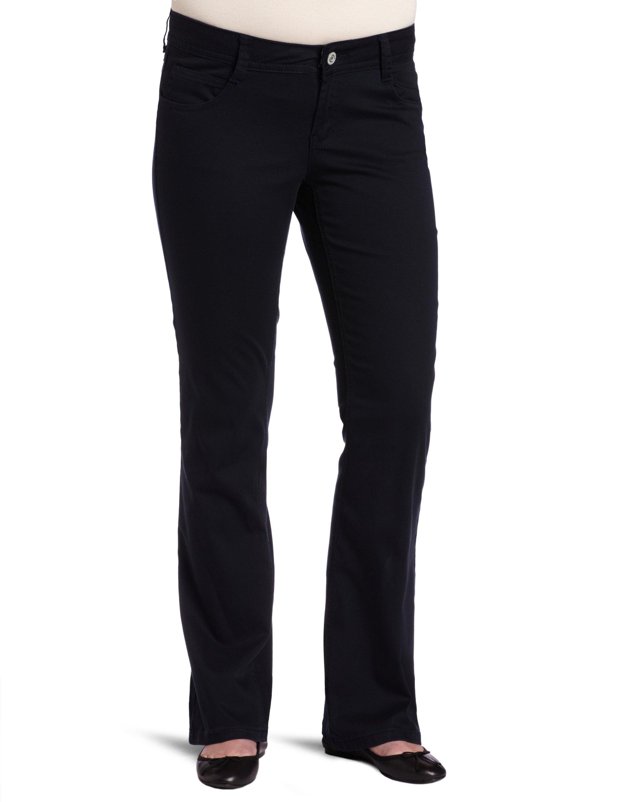 Southpole Juniors Plus Size BASIC Uniform Low Rise Bootcut Pant, Dark Navy, 14