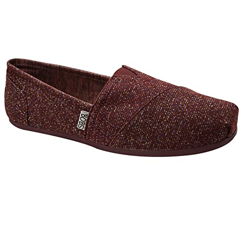 7c6378f3280b Womens New Skechers Bobs Memory Foam Canvas Loafer Flats Pumps Espadrilles  Alpargata Size 2-7