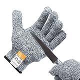 Wazaza 軍手 防刃手袋 防刃 作業グローブ 作業用手袋 耐切創手袋 切れない手袋レベル5 滑り止め 洗濯可   (M)