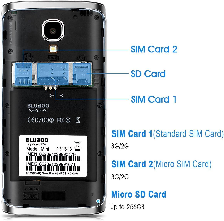 Bluboo Mini - Smartphone libre Android 6.0 (3G, Pantalla 4.5