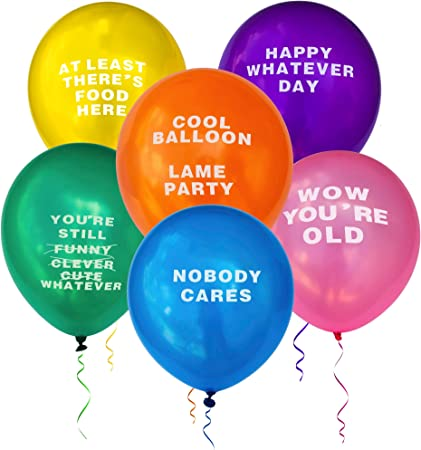 Funny Party Abusive Balloons, Humor Fun Prank Gag Joke