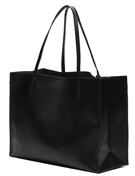 Bershka Ladies Tote Bag Set Genuine Leather Women s Shopper Shoulder ... f371cc573681a