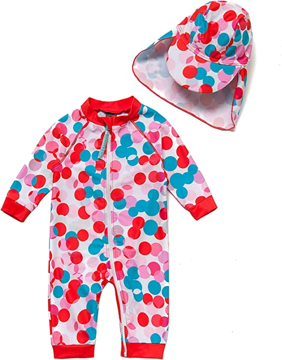 Sun Protection One Piece Swimsuit with Full-Length Zipper BONVERANO Baby/&Toddler Boys Sunsuit UPF 50