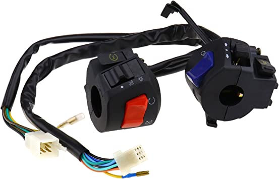 Motorcycle Scooter Quad ATV Horn Turn Signal Headlight Lamp Switch 7//8inch