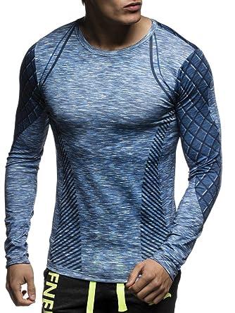 179e405248b LEIF NELSON Gym pour des Hommes Fitness Shirt T-Shirt Chemise d entraînement  Fitness Shirt Chemise de Course Chemise de Course LN6314  Taille S
