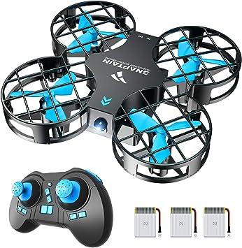 Opinión sobre SNAPTAIN Mini Drone H823H Plus con 3 baterías para 21 Minutos de Tiempo de Vuelo, Drone RC, Mini helicóptero quadrocopter con Soporte, Modo sin Cabeza, volteos 3D y 3 Modos de Velocidad para niños