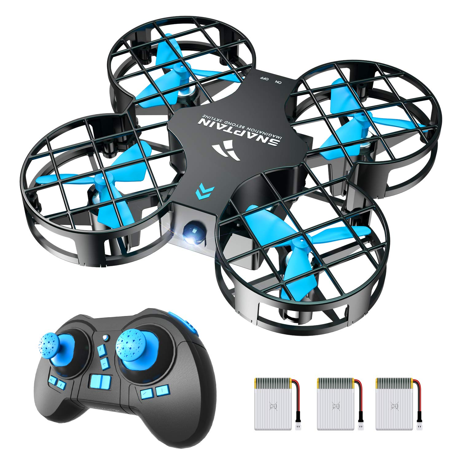 SNAPTAIN H823H Mini Drone for Kids and Beginners, 2.4G Remote Control Quadcopter with 3 Rechargeable Batteries, Altitude Hold, Headless Mode, 3D Flips, One Key Return, Toys for Children, Blue