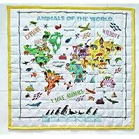 Animals Of The World Bebek/Çocuk Oyun Halısı%100 Pamuk