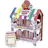 Street Stalls Sweet Shop - Soporte de 2 pisos para dulces