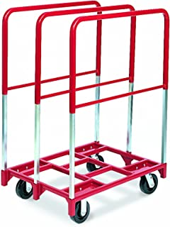 "product image for Raymond 3845 Steel Panel Mover with 3 Extra Tall Upright and 5"" x 2"" Phenolic Caster, 2400 lbs Capacity, 38-1/2"" Length x 27-1/2"" Width"