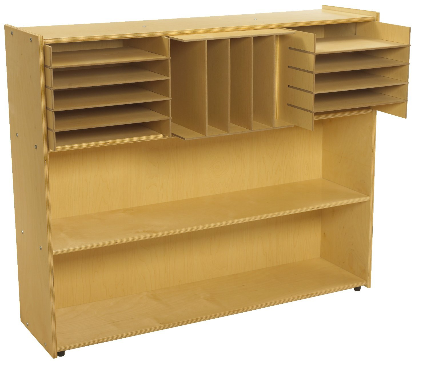 Childcraft 1526311 ABC Furnishings Sectional Inserts for 3-Cubby Storage Unit, 6'' Height, 13'' Width, 16'' Length, Natural Wood (Pack of 18)
