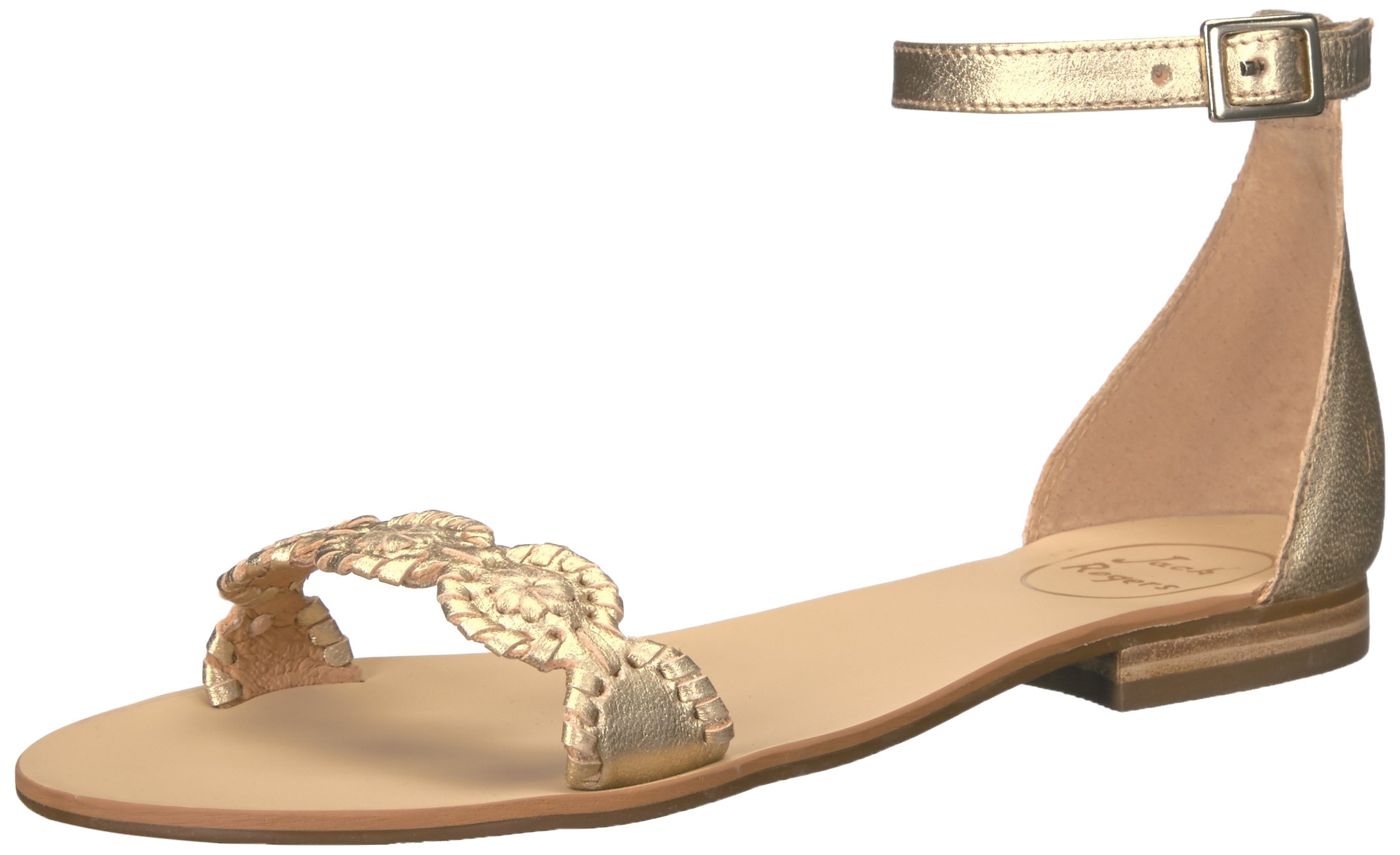 Jack Rogers Women's Daphne Dress Sandal, Gold, 9 M US