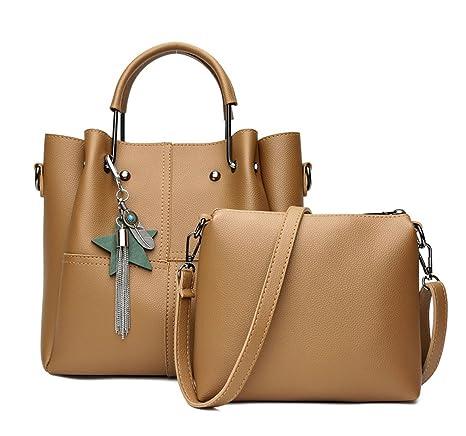 DEERWORD Mujer Shoppers y bolsos de hombro Bolsos bandolera Carteras de mano y clutches Barna