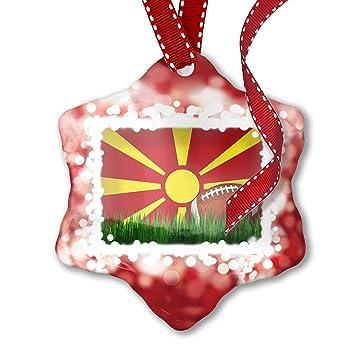 d82d0d618c3 Amazon.com  NEONBLOND Christmas Ornament Football with Flag 3D Flag ...