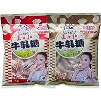嘉士柏台湾风味软牛轧糖经典双味装(花生+芝麻)500g*2