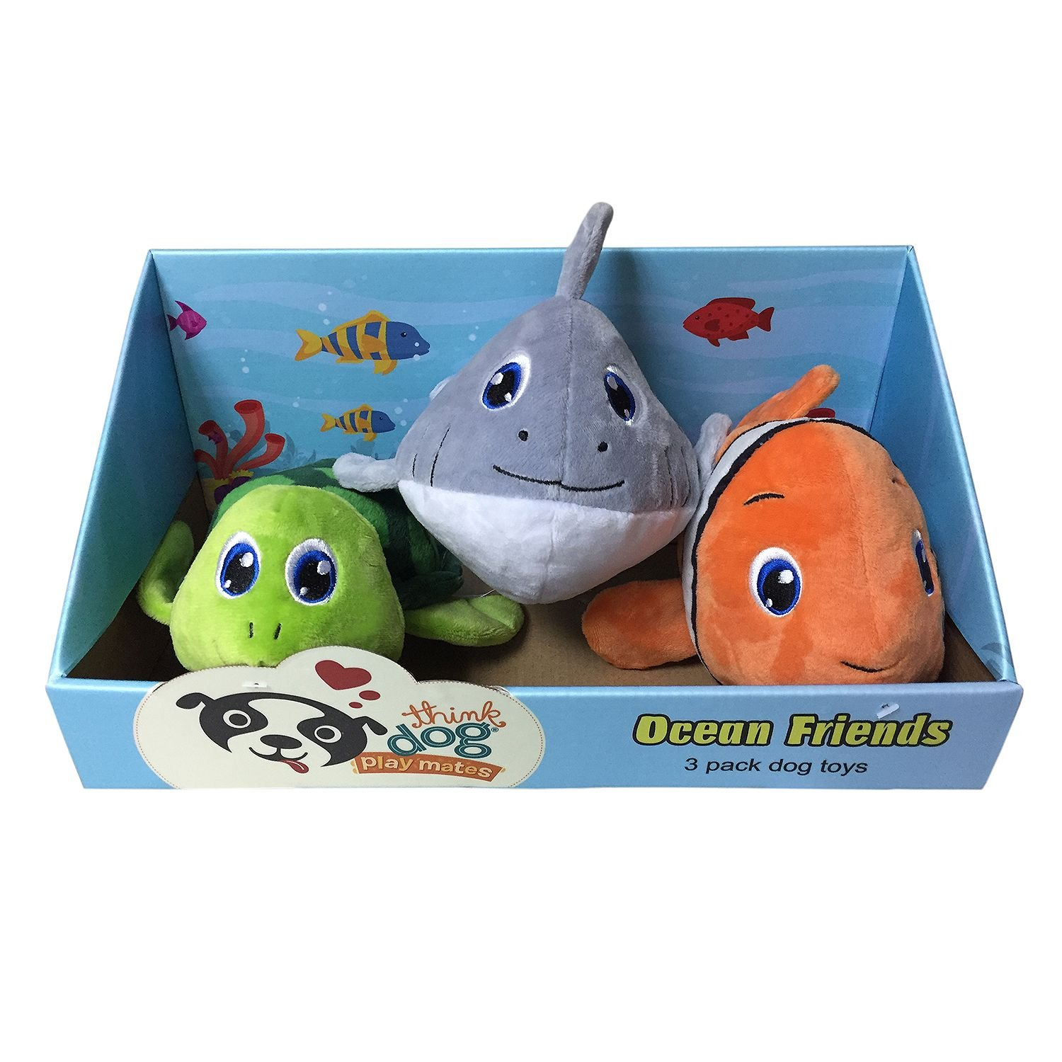 Think Dog Ocean Friends Toy Pack Box of 3 Toys