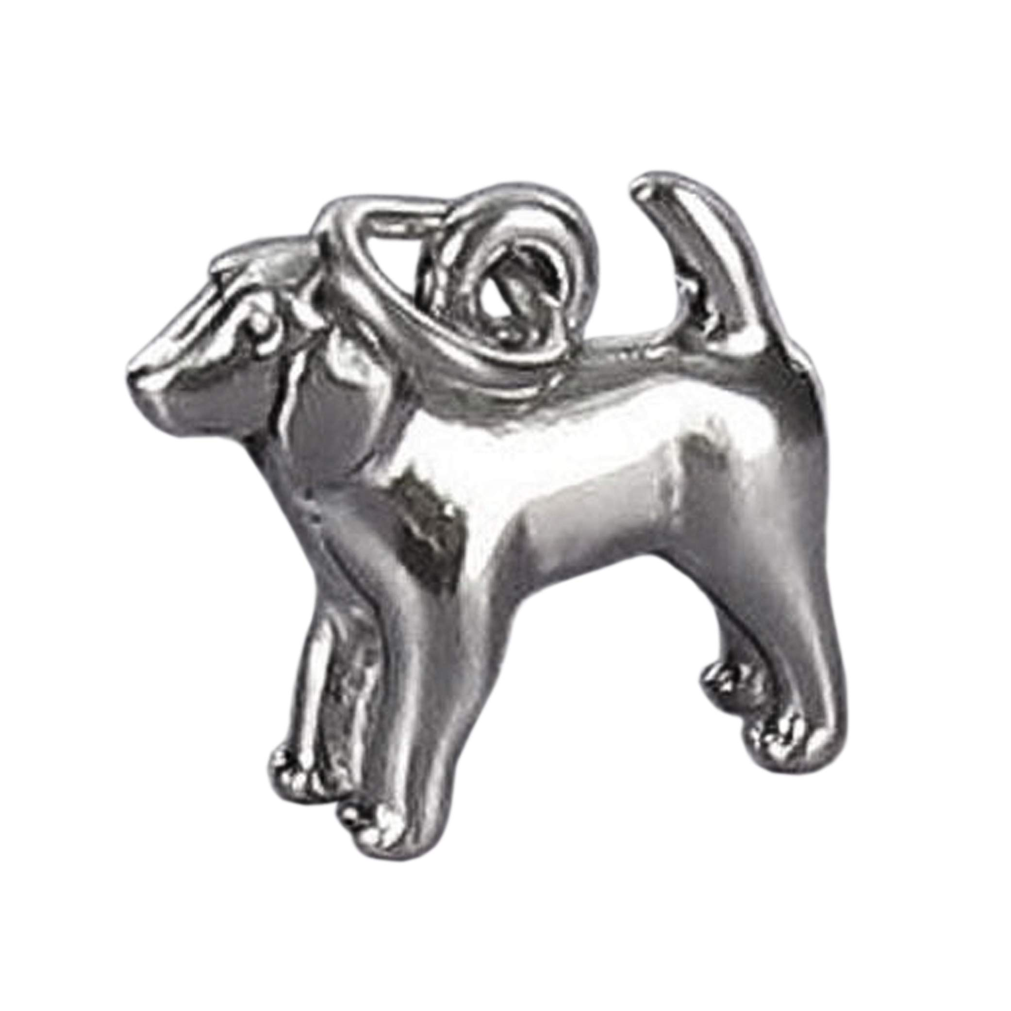 Spaniel Dog Charm Sterling Silver 925 for Bracelet Short Hair Pet Puppy Brittany Jewelry Making Supply, Pendant, Charms, Bracelet, DIY Crafting by Wholesale Charms