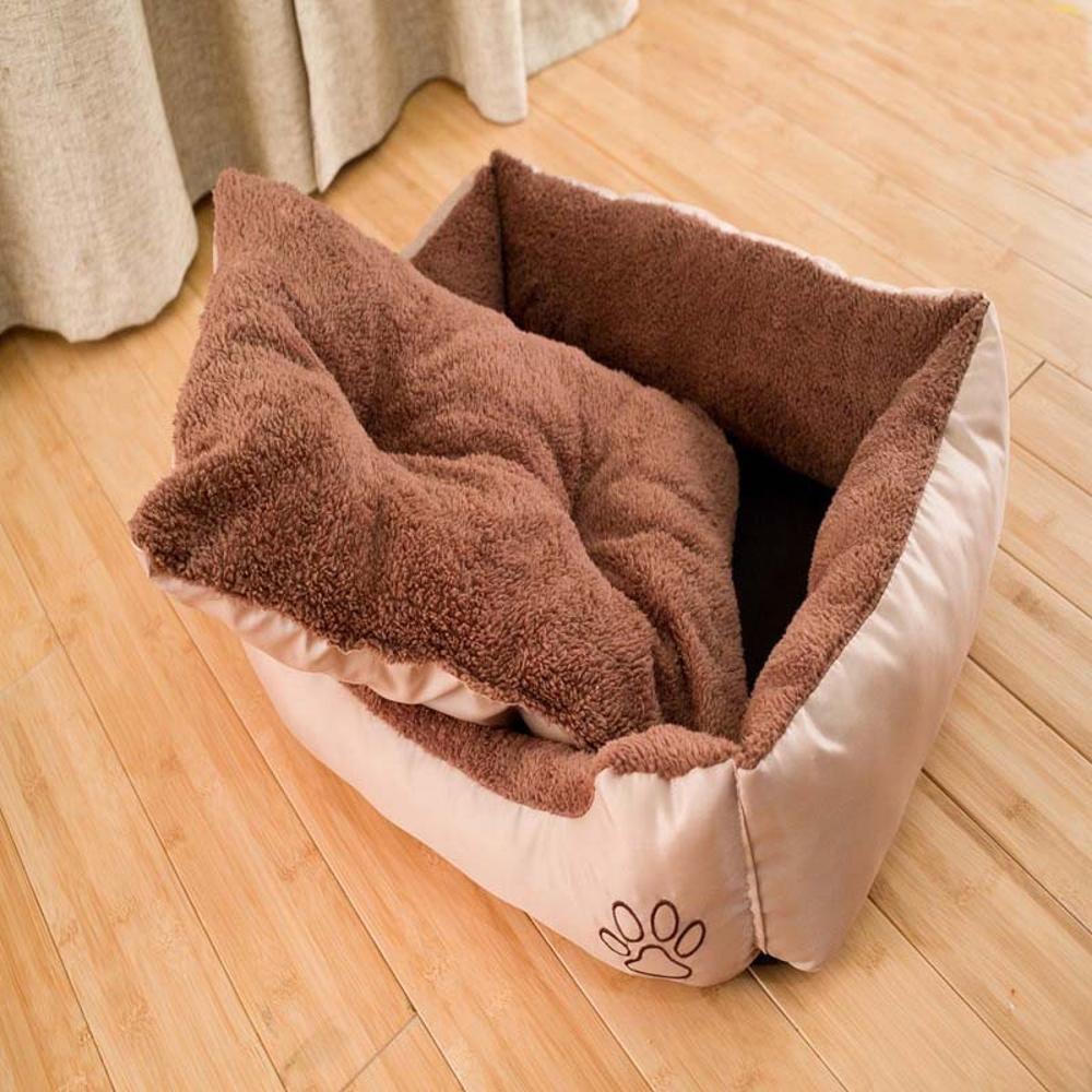Aoligei Pet Opaco Comfort Morbido Prodotti Animali Beige + Marronee 61  48  18 cm Perfetto per Prendere Il Sole su Tappetino, pisolino e Letto