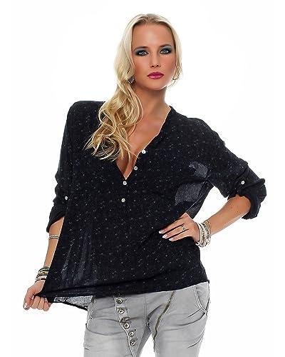 ZARMEXX bella camicia a maniche lunghe Fisher regular fit leggera a maniche lunghe camicetta di esta...