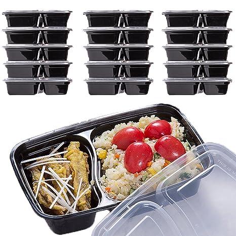 Amazon.com: Recipientes de comida de plástico [paquete de 15 ...