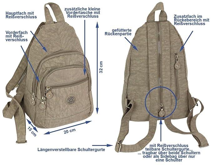 04a310b48c6df Kleiner Daypack sportlicher sehr leichter City- Rucksack Trekking crossbody  Backpack Freizeit Fahrrad Sport Wandern Reise 6 Farben 2257 (Stone-Beige)   ...