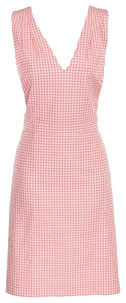 3ab92b3457 Image Unavailable. Image not available for. Color  J Crew Women s V-Neck  Seersucker Gingham Sleeveless Dress ...