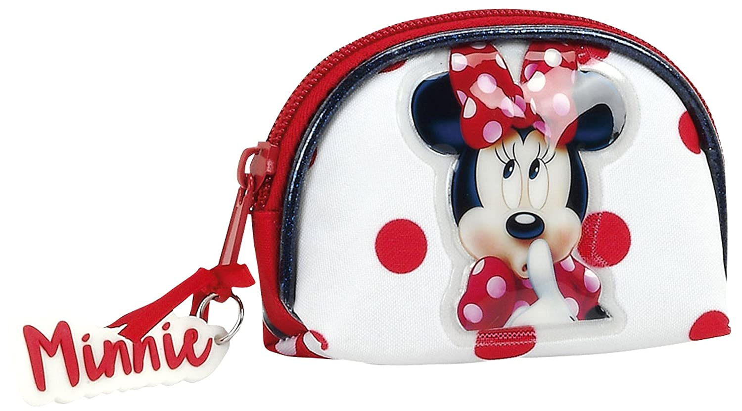 Minnie Mouse Monedero, 10 cm, Rojo y Blanco: Amazon.es: Equipaje