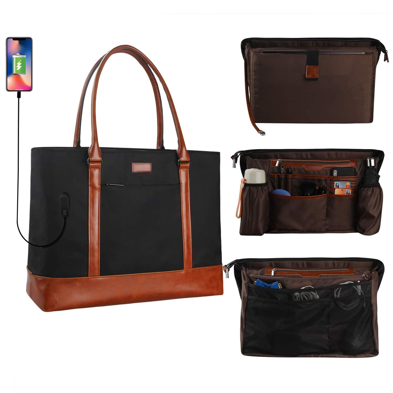MONSTINA Woman Laptop Tote Bag,USB Teacher Bag