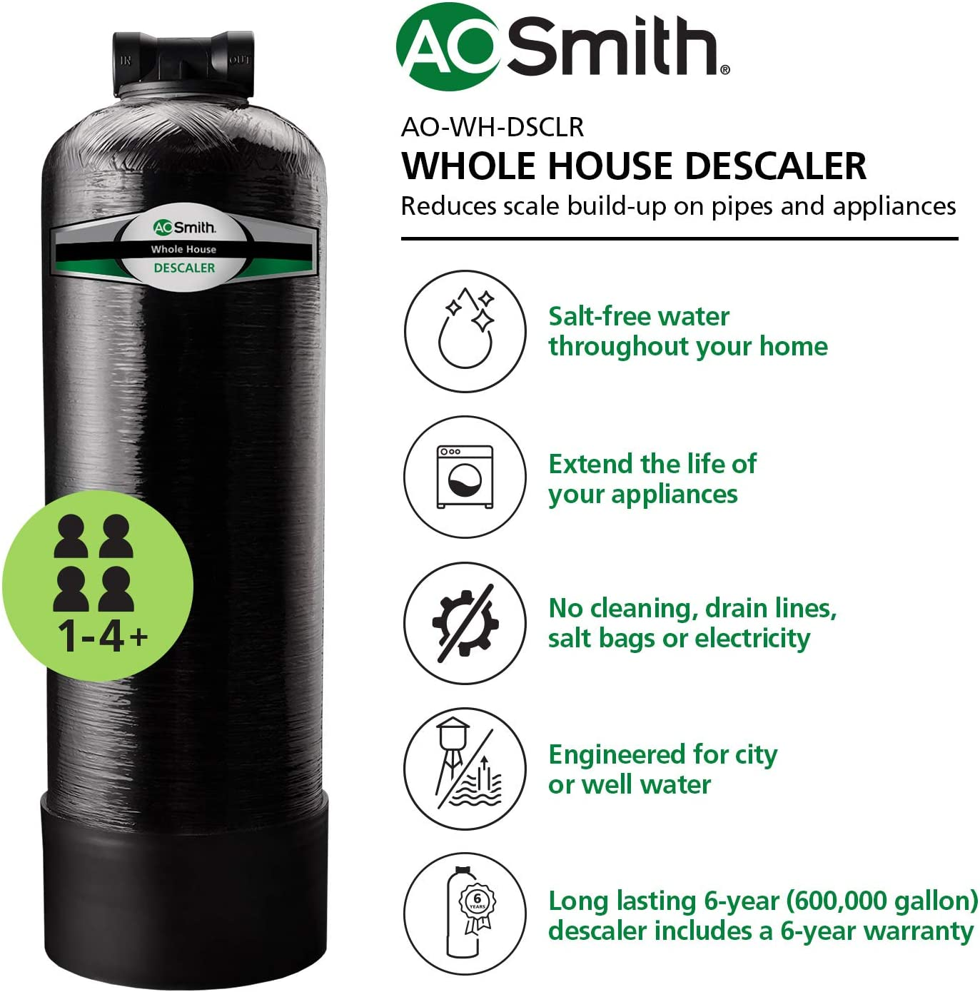 AO Smith water softener reviews - Features