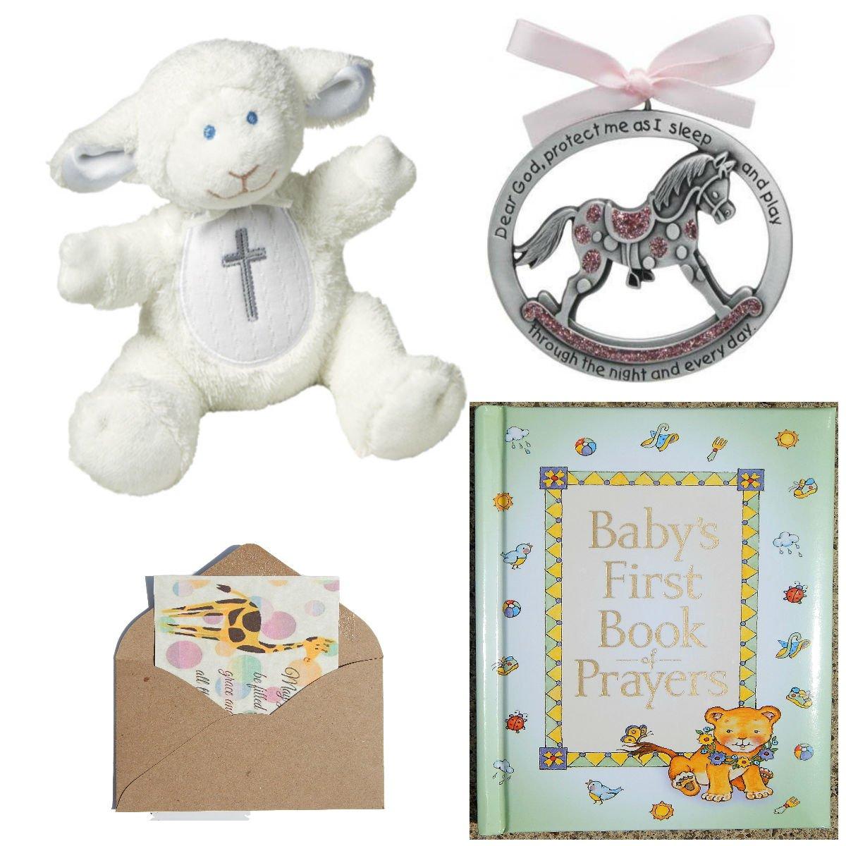 Catholic Baby Baptism Christening Or Baby Shower Gift Set-4 Items Blue Pink