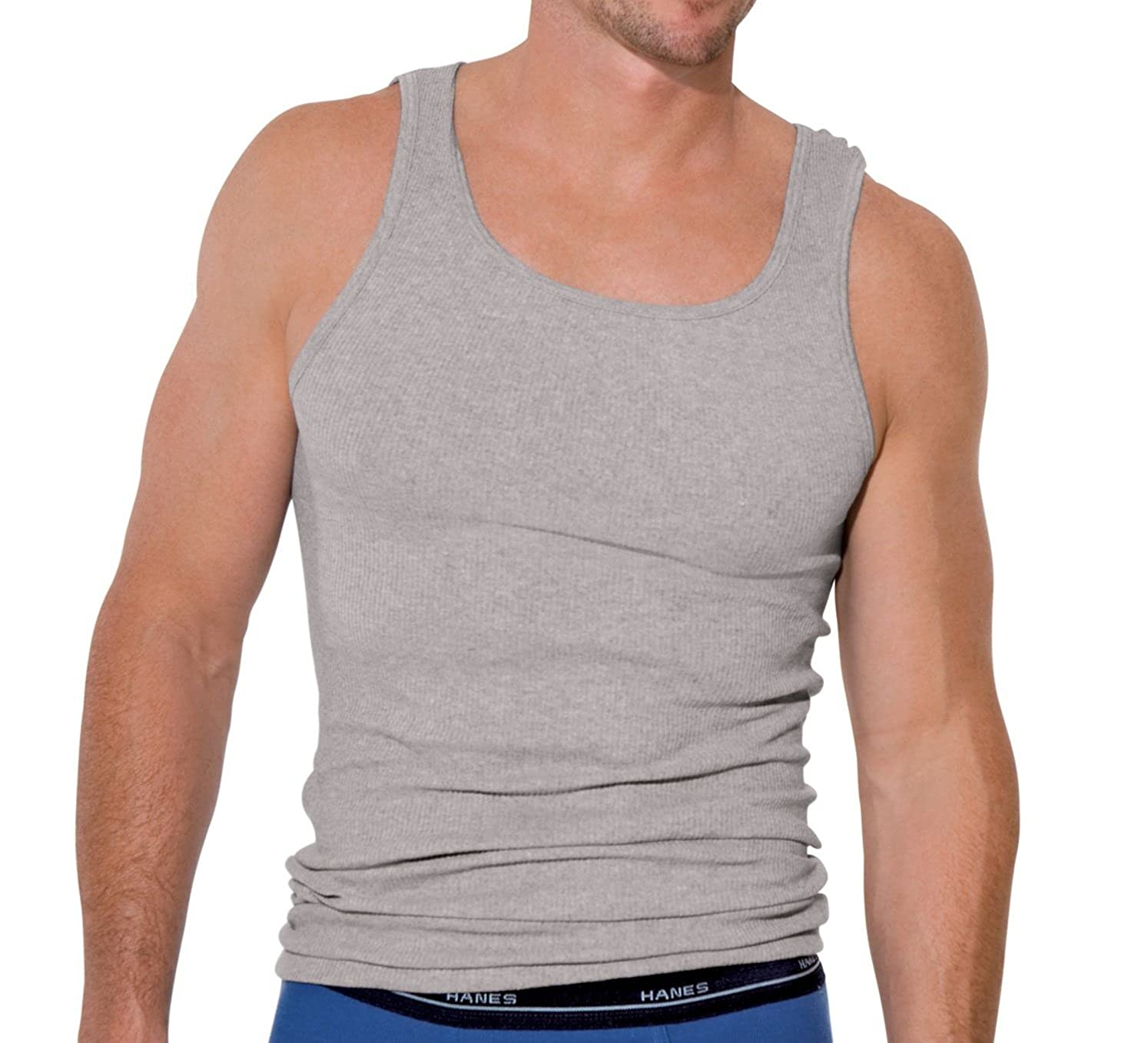 681559d6994f Hanes Men's Red Label Dyed Tanks 2 Pack, (Med/Assorted Colors) at Amazon  Men's Clothing store: Undershirts