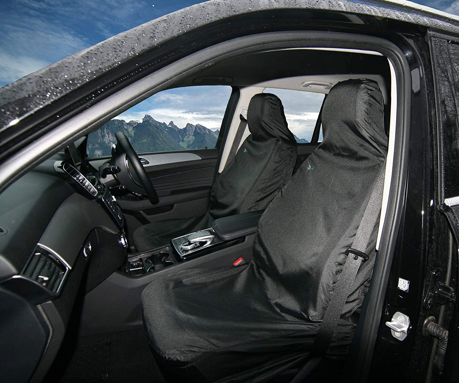 3D Van Double Seat Cover Multi Fit Black Waterproof Town and Country VBLK
