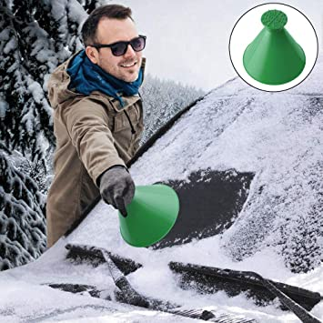 Rund Eiskratzer Auto Schneeschaufel Eiskratzer Hirundo Magischer Eiskratzer Eisschaber Auto Reinigung Schneeschaufel Werkzeug Eiskratzen Ice Scraper Für Auto Windschutzscheibe Auto