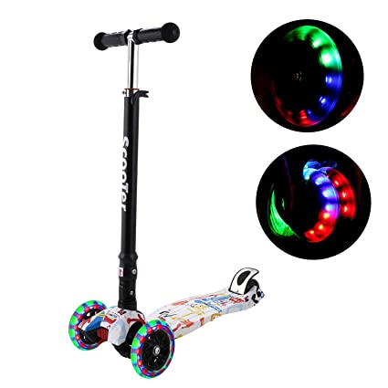 Lululy Kick Scooters Kids Mini Patinete Plegable 3 Ruedas ...